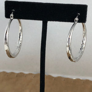 White Gold Filled Gold Filled Hollow Hoop Earrings